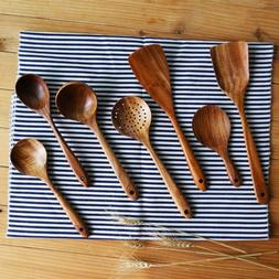 Natural Wood Tableware Fork Bamboo Kitchen Cooking <font><b>