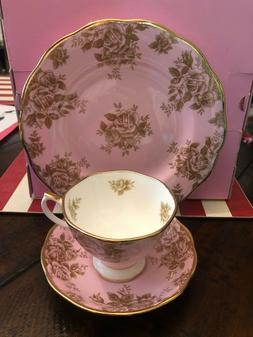 NEW 100 Years ROYAL ALBERT 1960 Golden Roses 3-Piece PLACE S
