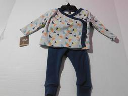 NEW Tea Collection Baby Boys 2 PC Long Sleeve Outfit Set Siz