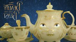 NEW Disney Beauty and the Beast Enchanted Objects Tea Set Mr