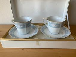 New Boxed Gift Set Noritake Tea Cup & Saucer Set - from Japa