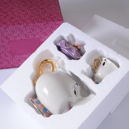 New Cartoon Beauty And The Beast Teapot Mug Mrs Potts Chip <