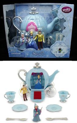 New - Disney CINDERELLA TEA SET 10 Piece Play Set - 3 Figure