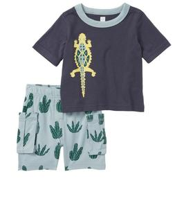 NEW TEA COLLECTION, DESERT LIZARD, BABY BOY T-SHIRT & CARGO