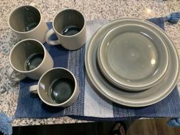 New Jars Dinnerware Set 4 Tea Cups, 4 Plates, 4 Saucers Made