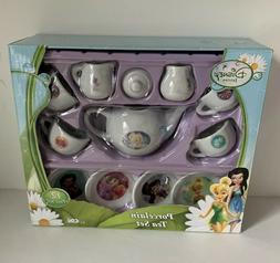 NEW Disney Fairies 12 PC Porcelain Tea Set Kids