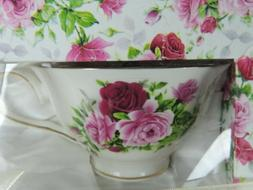 NEW Grace's Teaware Set of 2 Tea Cups & Saucers 4 pieces Pin