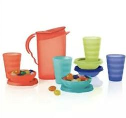 new TUPPERWARE IMPRESSIONS KIDS 9 PC MINI tea PARTY SET PITC