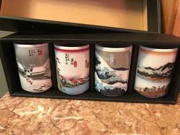 New in box nib kotobuki Japanese Tea Cup Set of 4 San Franci