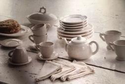 New Park Hill Little Girl Tea & Lunch Serving Set Creamware