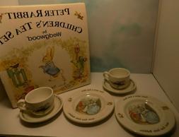NEW Peter Rabbit Wedgwood CHILDREN'S TEA SET 6 PC- 2 Plates