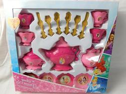 New Disney Princess Dinnerware Set 26 pc Tea Play Set Servic