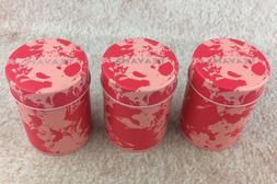 NEW Set of 3 Teavana Loose Leaf Tea Tins Mini Canisters w/ A