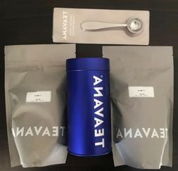 New Teavana Set Tiramisu Tea 16.1 Oz  /Tin Blue/Spoon