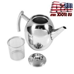 New Stainless Steel Teapot Coffee Pot with Tea Leaf Infuser