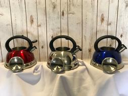 NEW Stovetop  Pour Whistle Tea Coffee Kettle Stainless Steel