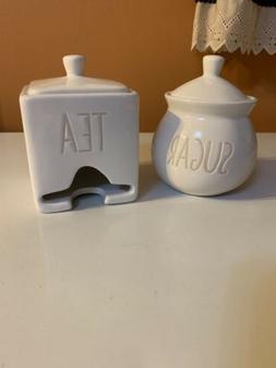 New Target Ceramic Sugar and Tea Bag Holder Set Rae Dunn Dec