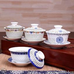 Newly listed porcelain gaiwan ceramic tureen covered bowl te