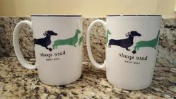 Set of 2 Kate Spade of New York Wickford Daschund Coffee Mug