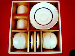 NIB HANKOOK FINE BONE CHINA 8 PIECE TEA SET ~ MADE IN KOREA
