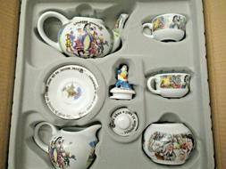 nib miniature tea set snow white