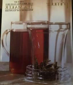 NIB New Primula 12-Ounce Personal Tea Maker/Pot Clear Glass!