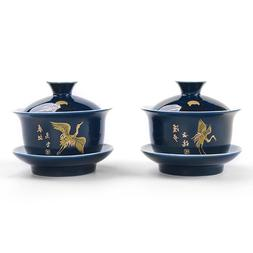 Noble blue outline in gold <font><b>Tea</b></font> Tureen cu