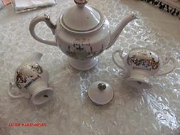 Norcrest Fine China 25th Anniversary Tea or Coffee Pot with