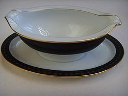 Noritake Benedicta 6976 Fine China Gravy Boat Bowl with Atta