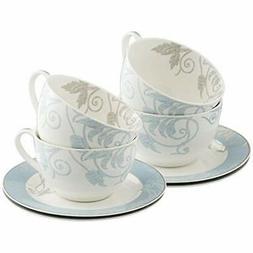 """Belleek Novello Teacup """" Saucer , Duck Egg Cup Sets"""