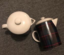 NWT Hearth & Hand Magnolia Coffee Tea Pot Plaid Pitcher Beve