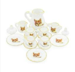 odoria 1 12 miniature 15pcs porcelain tea