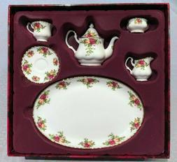 Royal Albert Old Country Miniature Tea Set - in original pac