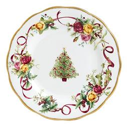 Royal Albert Old Country Roses Christmas Tree Salad Plate, 8