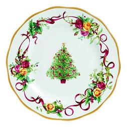 Old Country Roses Christmas Tree Dinner Plate, 10.25 Inches