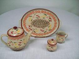 Temptations Old World Falfetti Tea Set - Teapot. Tray, Cream