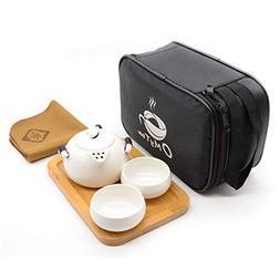 OMyTea® Portable Travel Tea Set - 100% Handmade Chinese / J