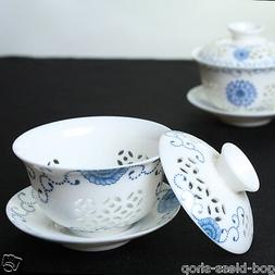 on sales porcelain gaiwan handpainted floral tureen lid sauc
