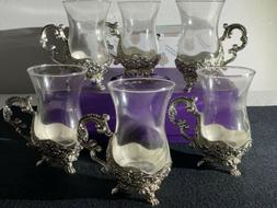 Orchid Gold Silver Floral Tea Set