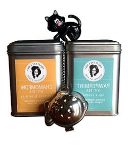 Crazy Cat Lady Organic Chamomile and Peppermint Tea Gift Set