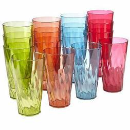 Palmetto 20-ounce Plastic Tumblers   set of 16 in 4 Assorted