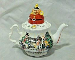 Paul Cardew Alice In Wonderland Teapot Christmas Tea Party E