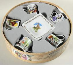 Paul Cardew Snow White Tea Party Cup And Saucer Set of 5