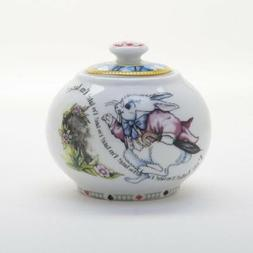 Paul Cardew, Alice in Wonderland Sugar Bowl with Lid Retired