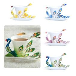 Peacock Porcelain Coffee Cup Set / Tea Cup Set for Daily Use