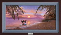 Disney Fine Art The Perfect Sunset by Irene Sheri Frame Dime