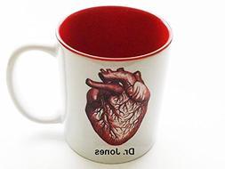 Personalized 11 oz Red Anatomical Heart Mug medical school g