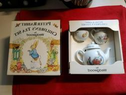 Peter Rabbit Children's Tea Set - Teapot, Sugar Bowl & Cre