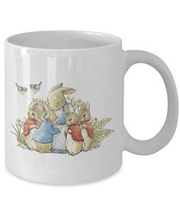 Peter Rabbit Family White Coffee or Tea Mug Great Gift for T