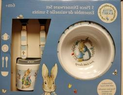 Beatrix Potter Peter Rabbit Melamine 5 Piece Dinner Set